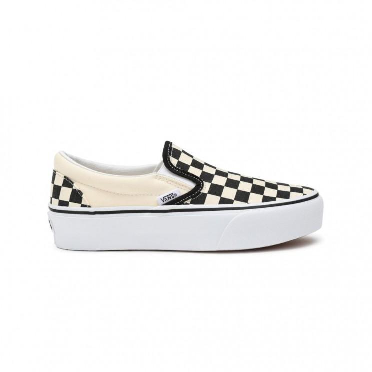 Zapatillas Vans Slip On Platform Black White Checker