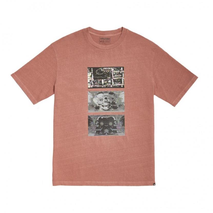 Camiseta Volcom Animoscillator FA SS Rosa