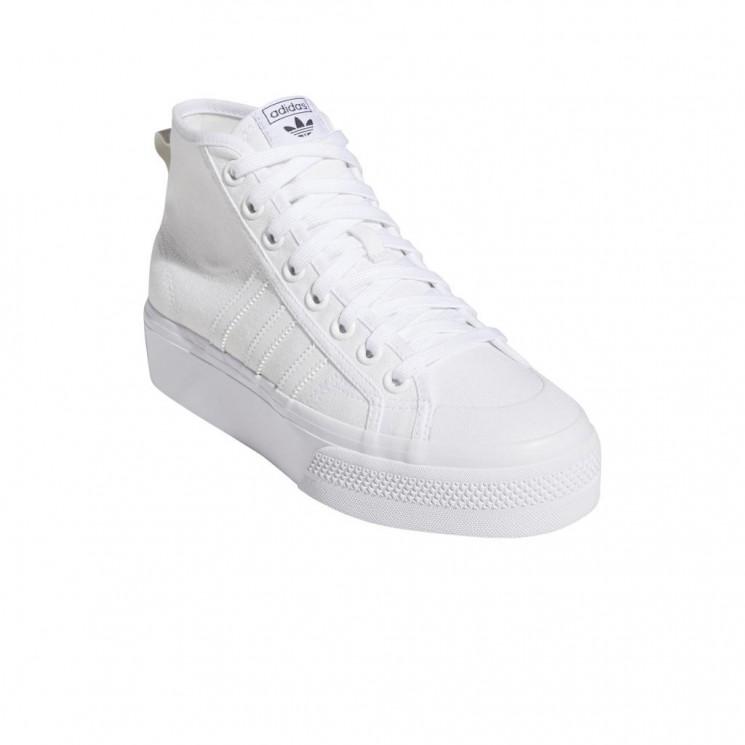 Zapatillas Adidas Nizza Platform MID W Blancas