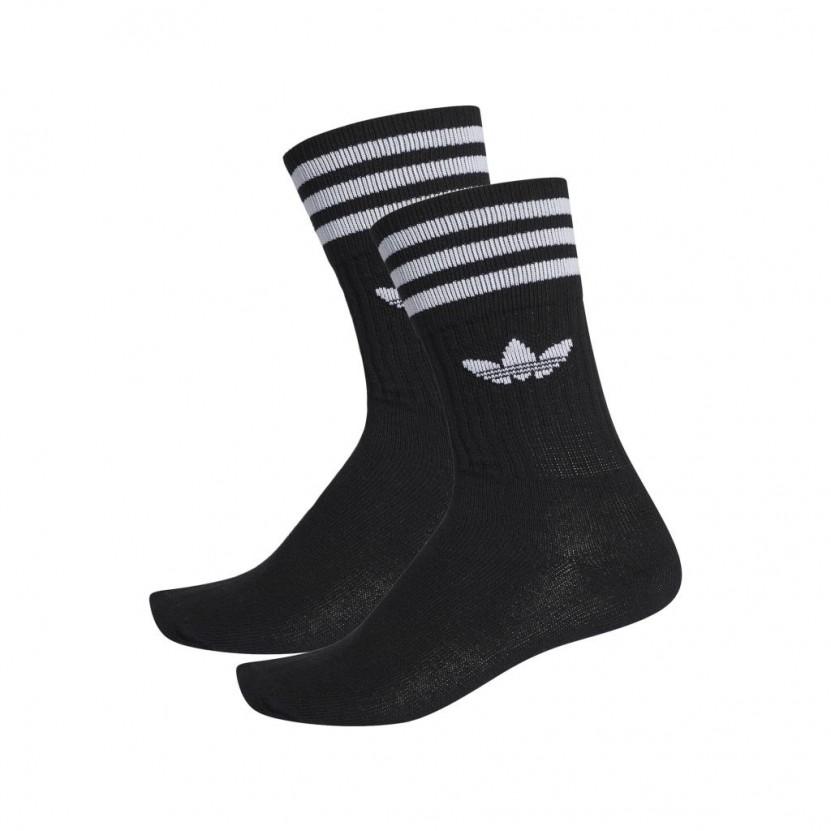 Calcetines Adidas Solid Crew Sock Negros