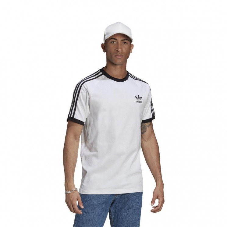 Camiseta Adidas 3 Stripes Tee Blanca