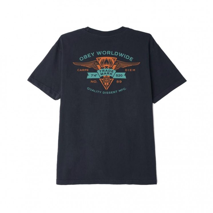 Camiseta Obey Winged Lotus Negra