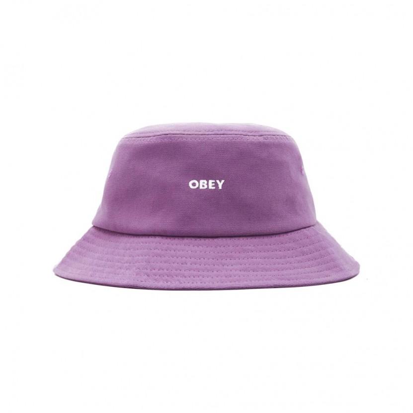 Sombrero Obey Bold Canvas Bucket Hat Malva