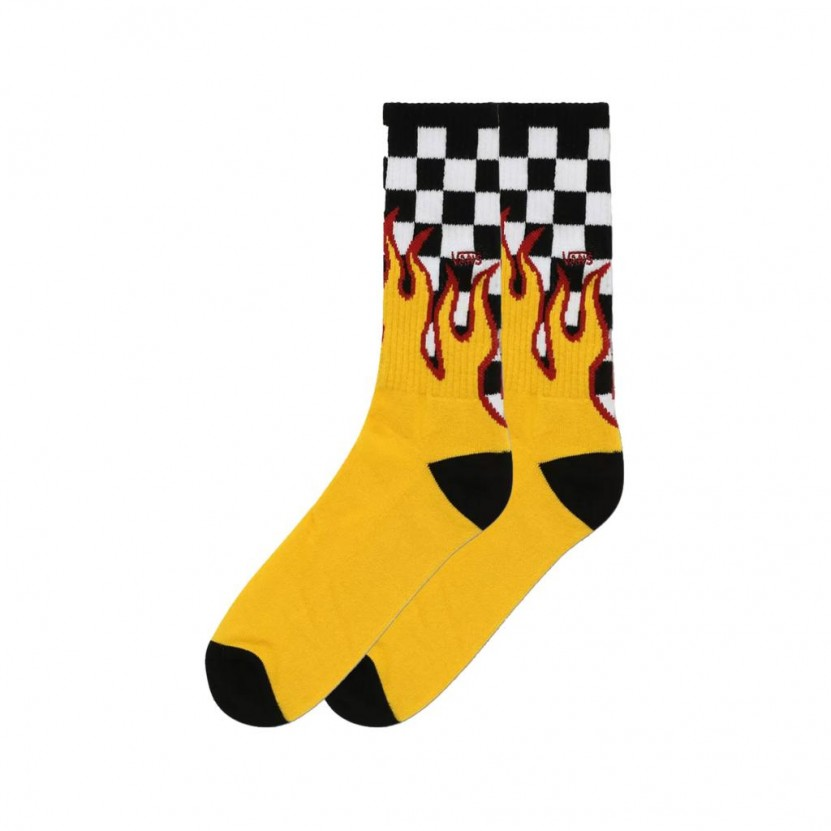 Calcetines Vans MN Flame Check Crew