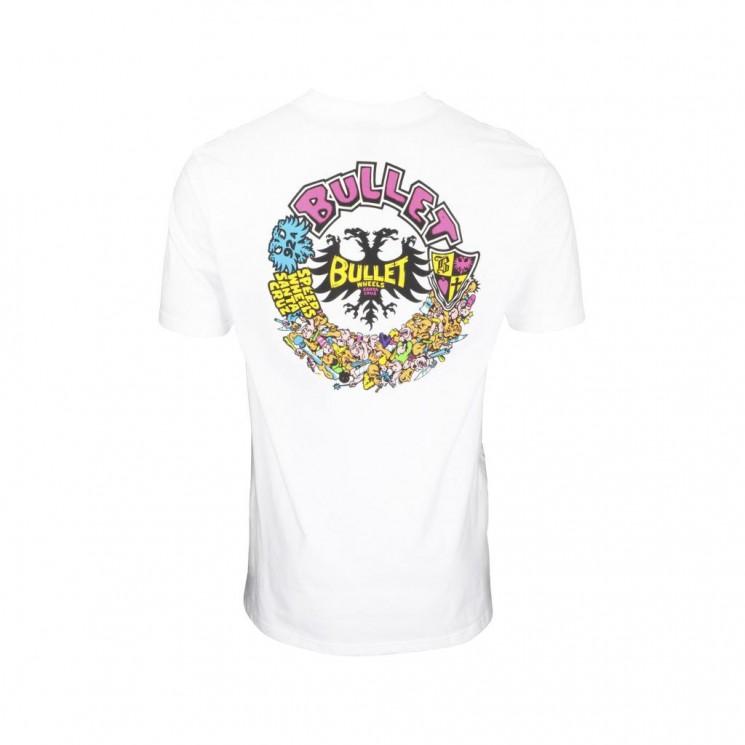 Camiseta Santa Cruz Bullet Riot T Shirt Blanca