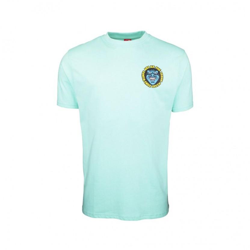 Camiseta Santa Cruz SW Logo Mash T Shirt Verde