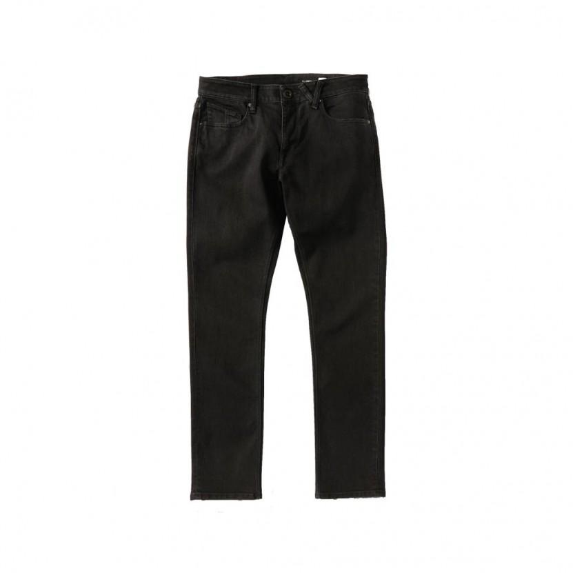 Pantalon Volcom 2 X Vorta Tapered Denim Negro