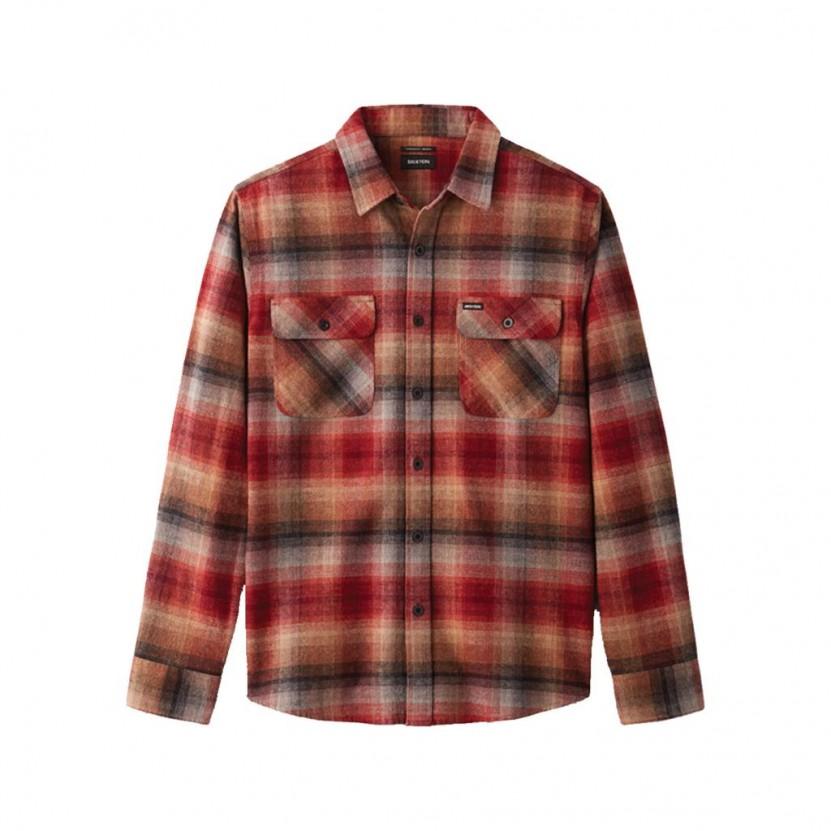 Camisa Brixton Bowery LS Flannel Roja