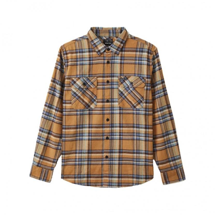 Camisa Brixton Bowery LS Flannel Amarilla