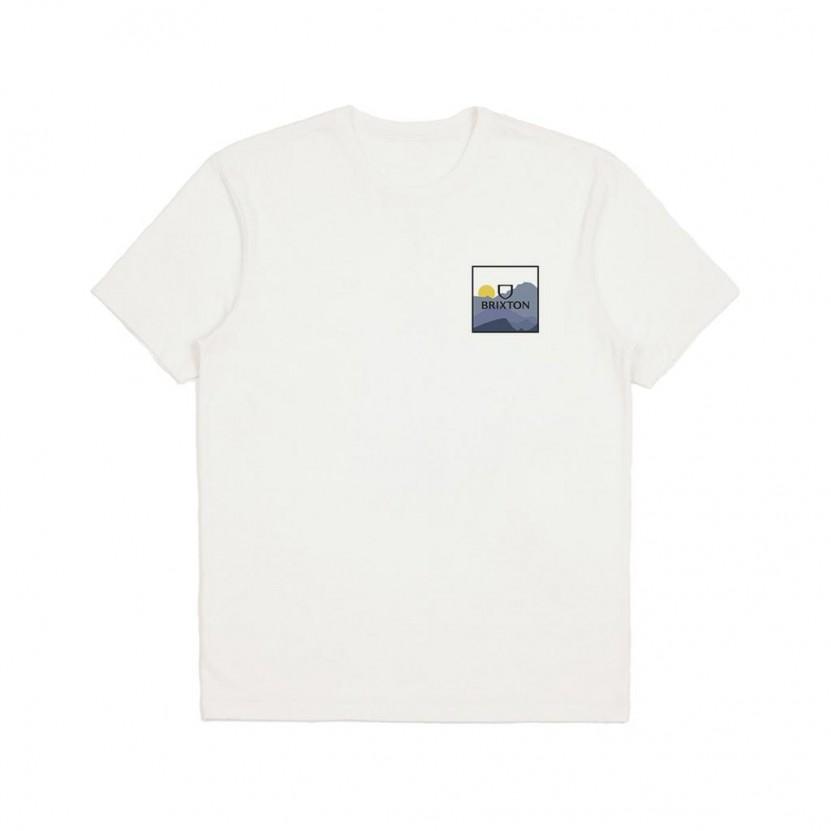Camiseta Brixton Alpha Block S S Tee Blanca