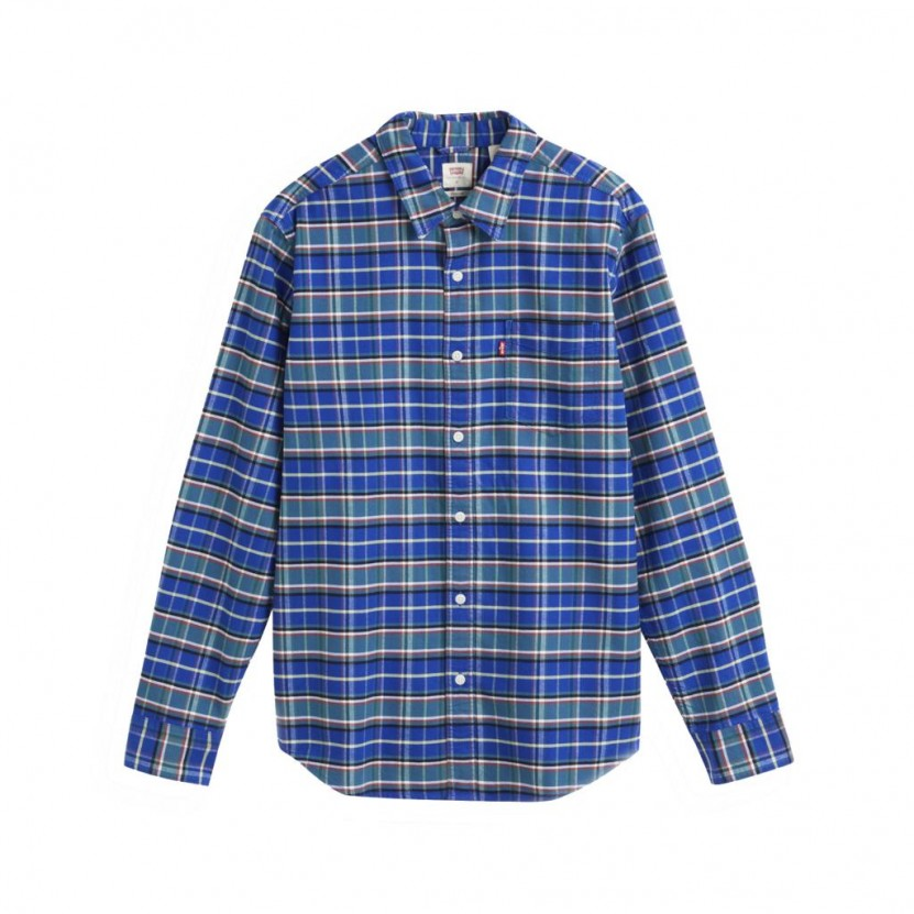 Camisa Levis Sunset 1 Pocket Standard Azul