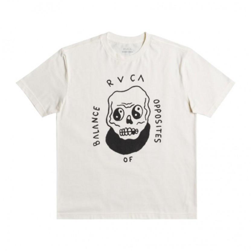 Camiseta Rvca Benj Skull Blanca