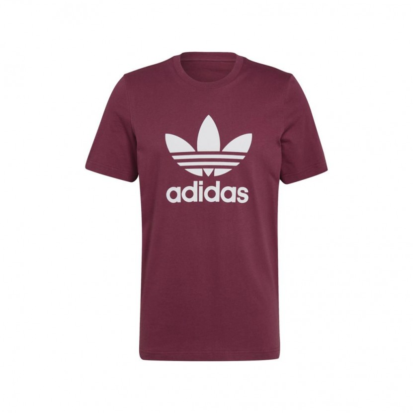 Camiseta Adidas Trefoil T Shirt Granate