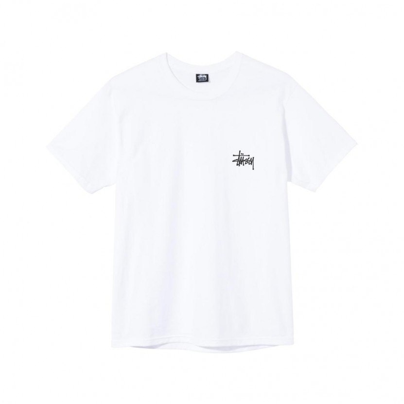 Camiseta Stussy Basic Tee Blanca