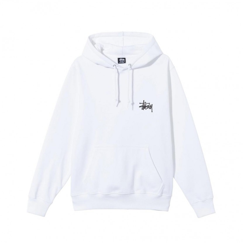 Sudadera Stussy Basic Hood Blanca