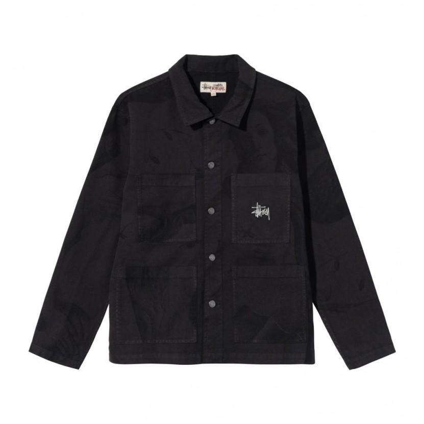 Parka Stussy Chore Jacket Negra