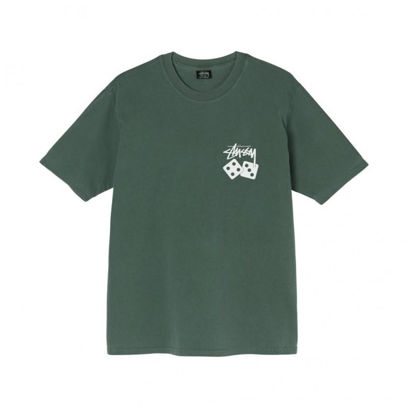 Camiseta Stussy Dice Pigment Dyed Tee Verde