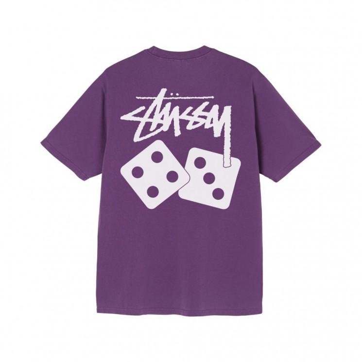 Camiseta Stussy Dice Pigment Dyed Tee Morado