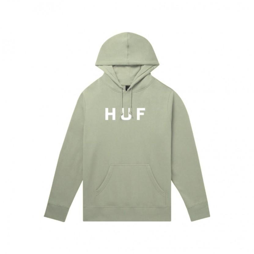 Sudadera HUF Essentials OG Logo P O Hoodie Verde