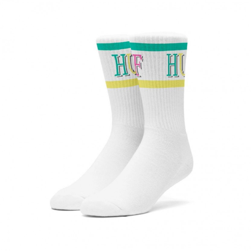 Calcetines HUF Bit Sock Blancos