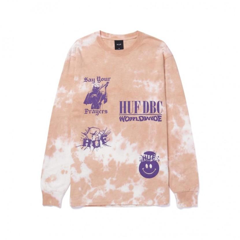 Camiseta HUF Disorder L S Tee