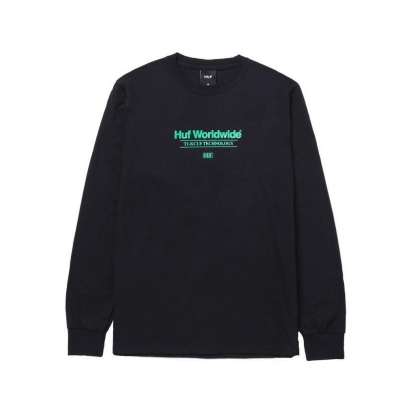 Camiseta HUF Virtual Fantasy L S Tee Negra