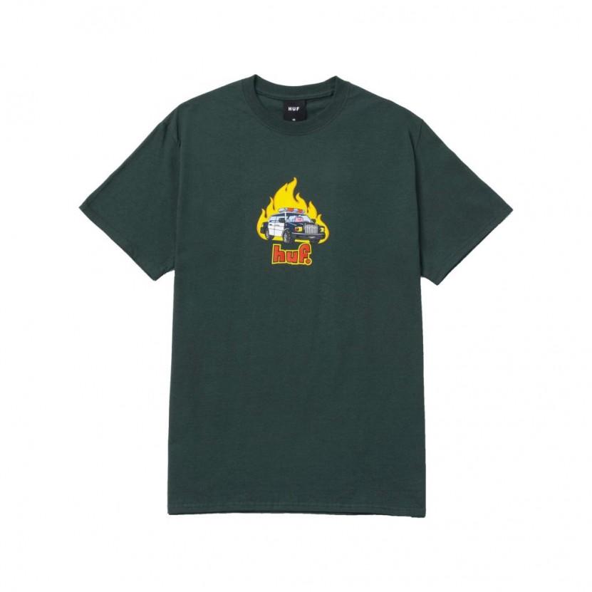 Camiseta HUF Roasted S S Tee Verde