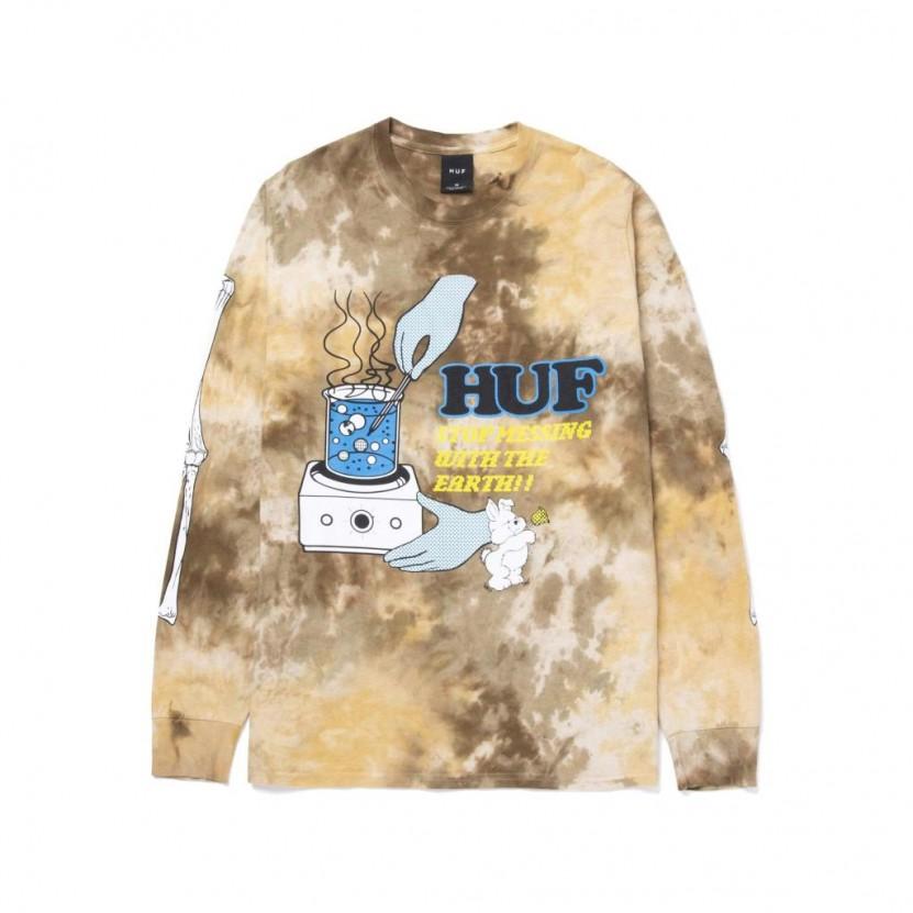 Camiseta HUF Mess Tiedye L S Tee
