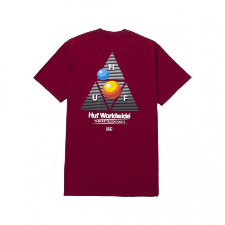 Camiseta HUF Video Format TT S S Tee Granate