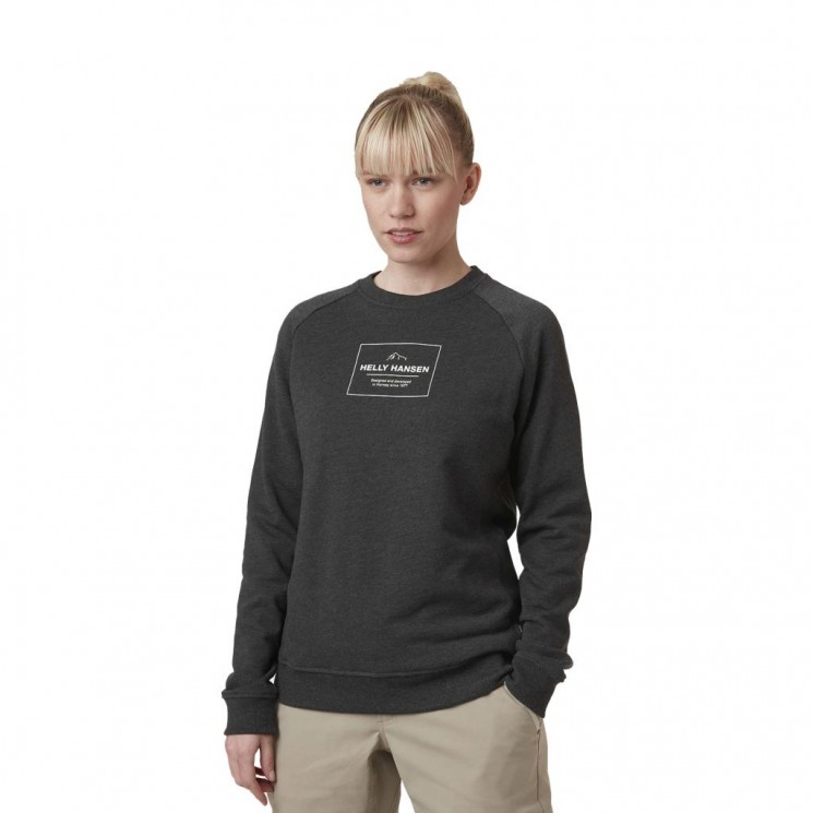 Sudadera Helly Hansen F2F Organic Cotton Sweater Gris