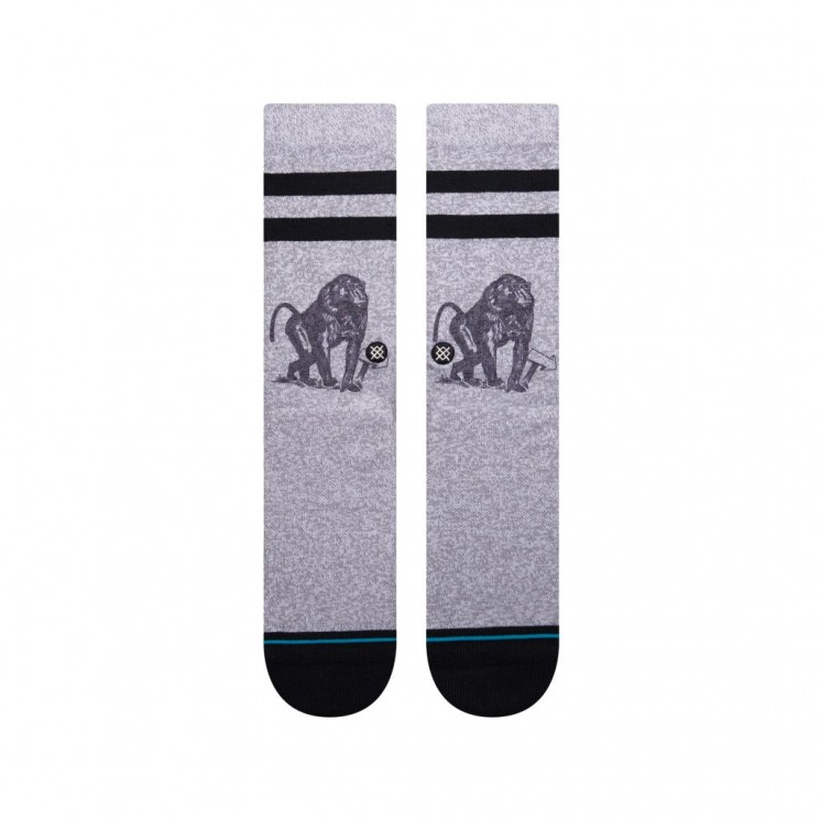 Calcetines Stance Monkey Tourist Gris