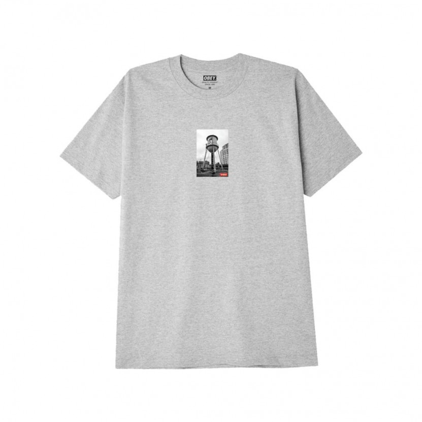 Camiseta Obey Water Tower Photo Gris