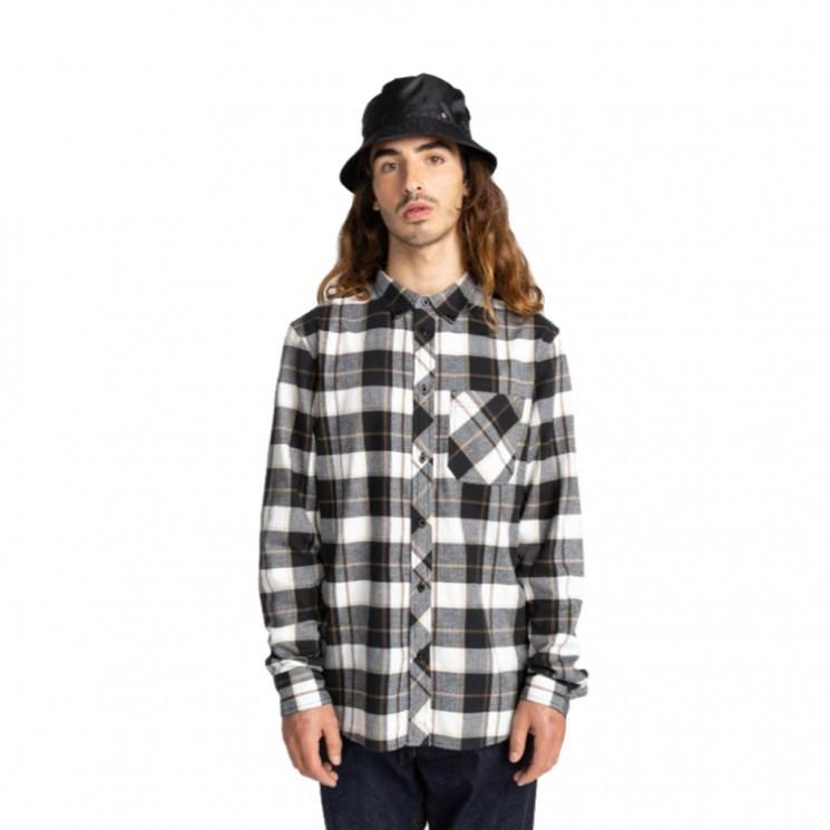 Camisa Element Lumber Blanco Negro