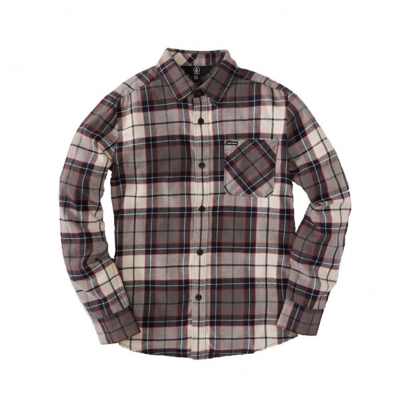 Camisa Volcom Caden Plaid LS Gris
