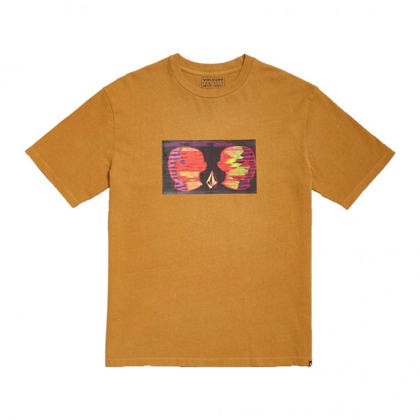 Camiseta Volcom Animoscillator FA SS Amarilla