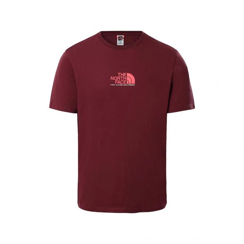 Camiseta The North Face M S S Fine Alpine 3 Granate
