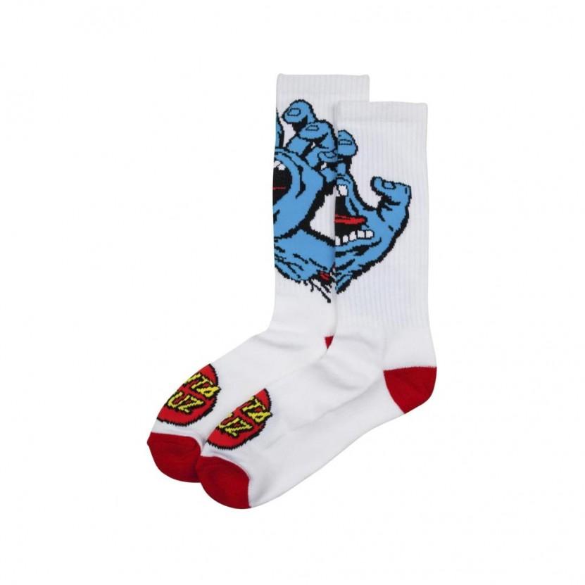 Calcetines Santa Cruz Screaming Hand Sock Blancos