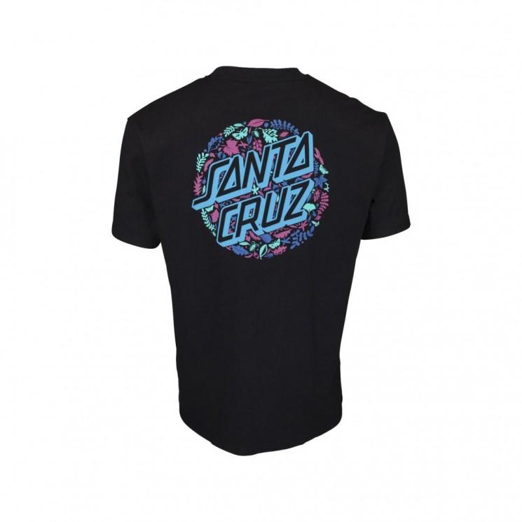 Camiseta Santa Cruz Foliage Dot T Shirt Negra