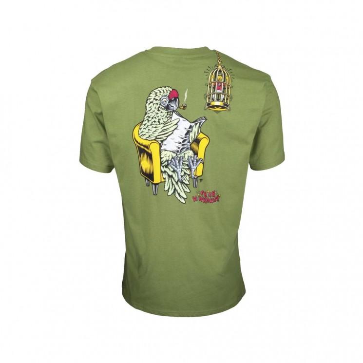 Camiseta Santa Cruz Winkowski Birdcage T Shirt Verde