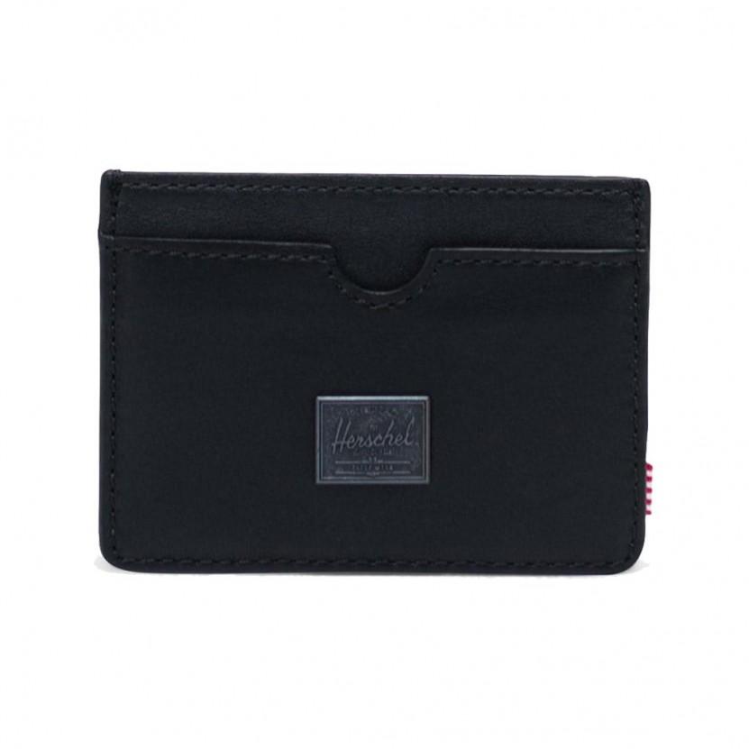 Billetero Herschel Charlie Leather RFID Negro