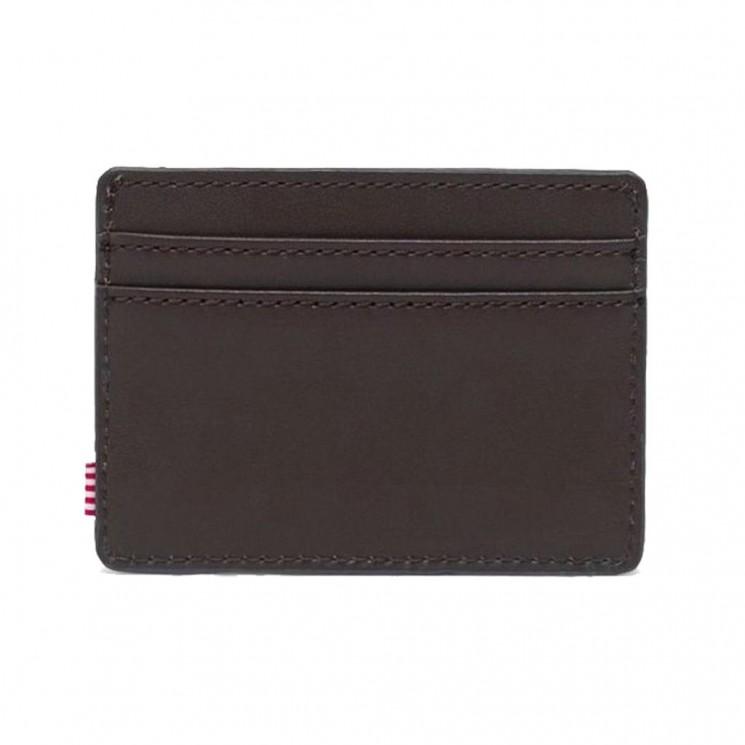 Billetero Herschel Charlie Leather RFID Marron