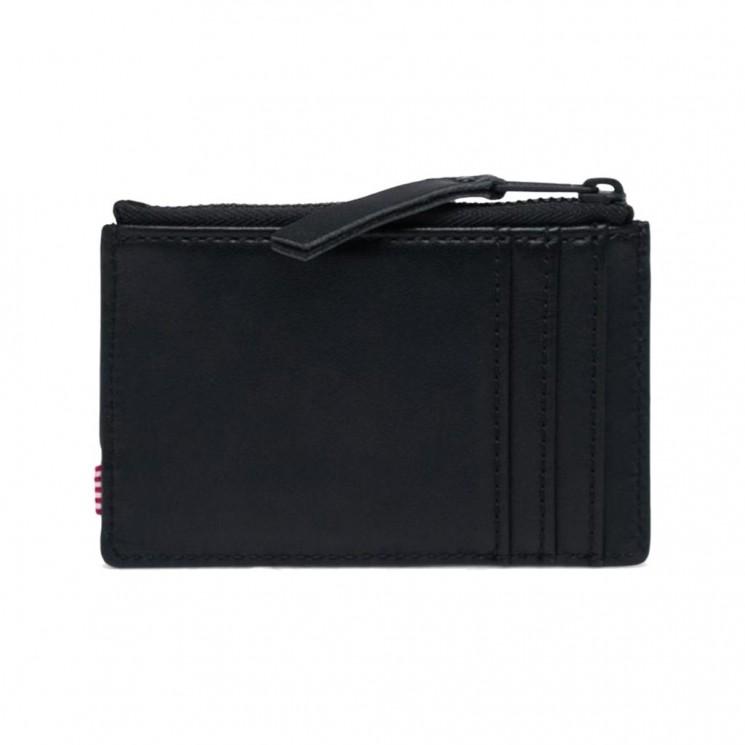 Billetero Herschel Oscar Leather RFID Negro