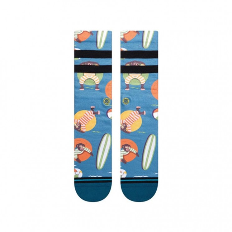 Calcetines Stance Monkey Chillin Azul