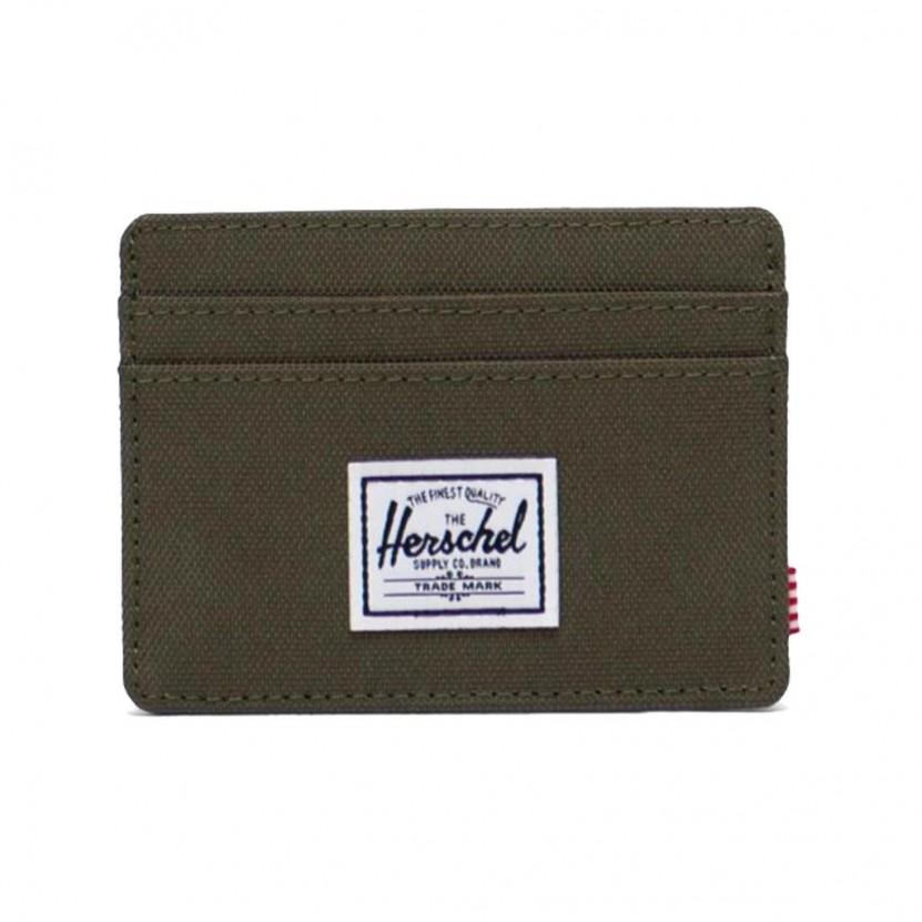 Billetero Herschel Charlie RFID Verde
