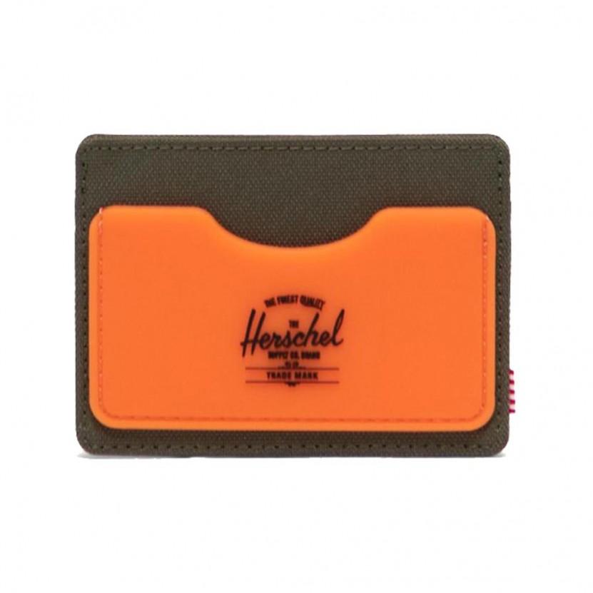 Billetero Herschel Charlie Rubbe RFID Naranja